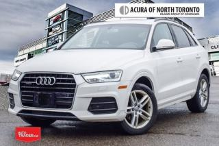 Used 2016 Audi Q3 2.0T Komfort Quattro 6sp Tiptronic No Accident for sale in Thornhill, ON