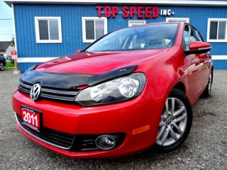 Used 2011 Volkswagen Golf Highline TDI DSG Leather Sunroof Bluetooth Certified for sale in Guelph, ON
