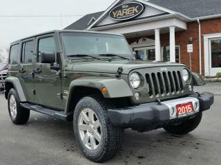 Used 2015 Jeep Wrangler Unlimited Sahara 4x4 Hardtop Convertible, NAV, Bluetooth, Heated Seats, Remote Start for sale in Paris, ON