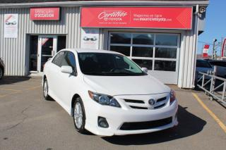 Used 2011 Toyota Corolla Berline 4 portes, boîte manuelle, S for sale in Shawinigan, QC