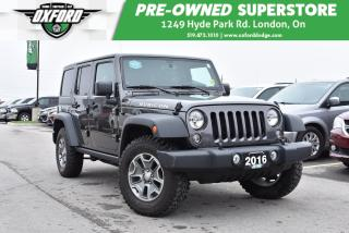 Used 2016 Jeep Wrangler Unlimited Rubicon - Alpine Sound System, Dual Tops, UConnect for sale in London, ON