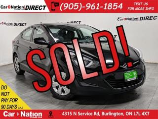 Used 2016 Hyundai Elantra L+| LOCAL TRADE| ONE PRICE INTEGRITY| for sale in Burlington, ON