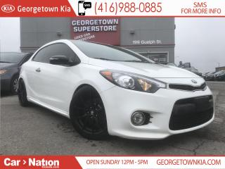 Used 2015 Kia Forte Koup SX  LEATHER  WARRANTY  CLEAN CARFAX for sale in Georgetown, ON