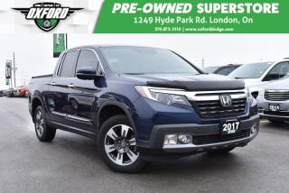 Used 2017 Honda Ridgeline Touring - Well Equipped, Low Kms, Trailer Hitch for sale in London, ON