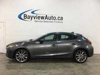 Used 2018 Mazda MAZDA3 GT - AUTO! HEATED LTHR! SUNROOF! PADDLE SHIFTERS + MORE! for sale in Belleville, ON