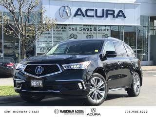 Used 2017 Acura MDX Elite SH-AWD, Vented Seats, Park Sensors for sale in Markham, ON