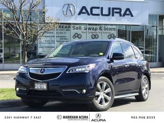 Used 2016 Acura MDX Elite Navi, Vented Seats, Ultrawide DVD for sale in Markham, ON
