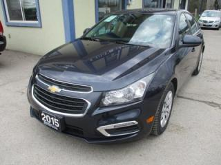 Used 2015 Chevrolet Cruze GAS SAVING 1-LT MODEL 5 PASSENGER 1.4L - TURBO.. TOUCH SCREEN.. BACK-UP CAMERA.. BLUETOOTH SYSTEM.. CD/AUX/USB INPUT.. for sale in Bradford, ON