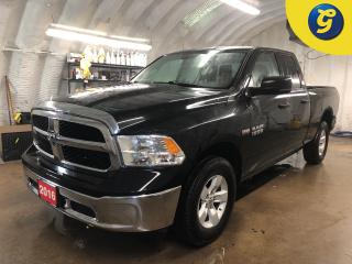 Used 2016 RAM 1500 Quad Cab 4WD 5.7 L HEMI * 4x4 * 5.7L HEMI VVT V8 with FuelSaver MDS * Rhino Sprayed Bed * Tow hitch w/ 6 pin connect * Tow/Haul mode * Trailer assist for sale in Cambridge, ON