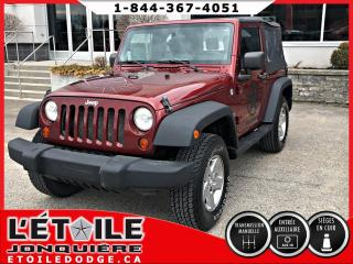 Used 2009 Jeep Wrangler SPORT X 4X4 2 PORTES SIEGES EN CUIR, MAG for sale in Jonquière, QC