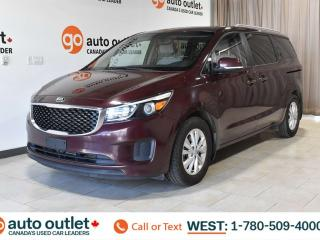 Used 2017 Kia Sedona LX, THIRD ROW SEATING, POWER WINDOWS & SEATS, STEERING WHEEL CONTROLS, CRUISE CONTROL, FRONT AND REAR A/C, HEATED FRONT SEATS, AM/FM RADIO, SATELLITE RADIO, BACKUP CAMERA for sale in Edmonton, AB