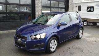 Used 2013 Chevrolet Sonic 5 portes à hayon LS à b. auto. for sale in Sherbrooke, QC