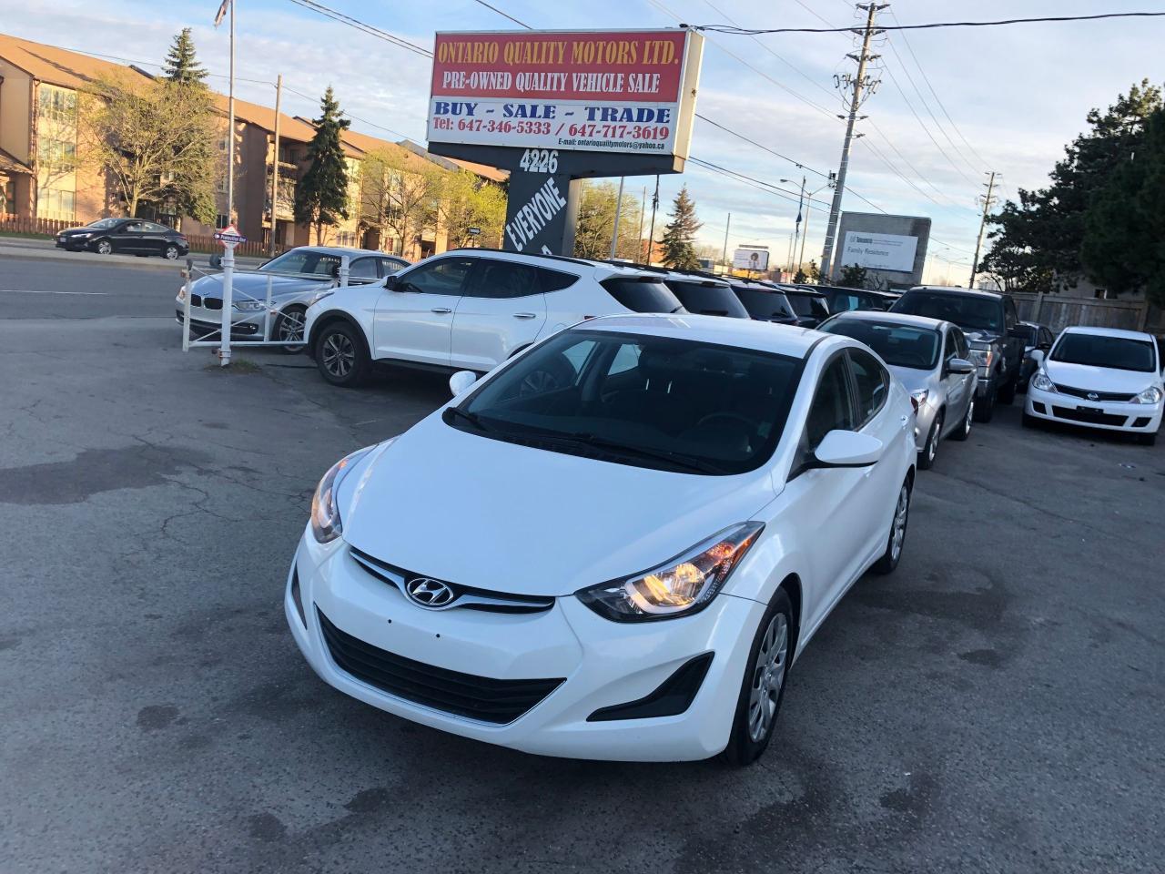 Ontario Quality Motors >> Used 2016 Hyundai Elantra Gl For Sale In Toronto Ontario