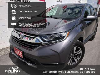 Used 2017 Honda CR-V LX NO ACCIDENTS, EXTENDED WARRANTY, WELL MAINTAINED, ONE OWNER, GREAT ON GAS - $166 BI-WEEKLY - $0 DOWN for sale in Cranbrook, BC