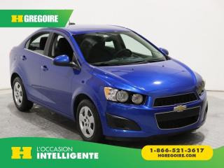 Used 2016 Chevrolet Sonic LT A/C GR ELECT for sale in St-Léonard, QC