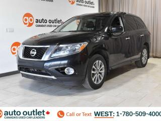 Used 2015 Nissan Pathfinder 4WD, POWER WINDOWS, STEERING WHEEL CONTROLS, CRUISE CONTROL, PUSH-TO-START, A/C, AM/FM RADIO, CD PLAYER for sale in Edmonton, AB