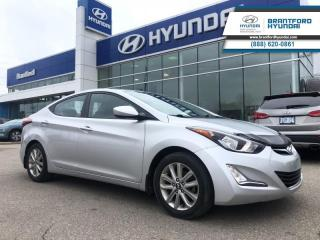 Used 2016 Hyundai Elantra - $102.82 B/W - Low Mileage for sale in Brantford, ON