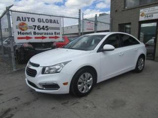 Used 2015 Chevrolet Cruze 1LT CAMERA RECUL A/C for sale in Sherbrooke, QC