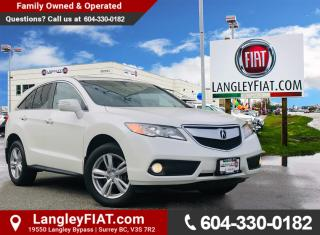 Used 2015 Acura RDX AWD, Low KM's, B.C Owned! for sale in Surrey, BC