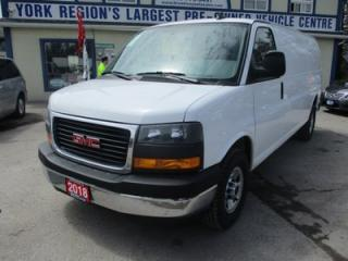 Used 2018 GMC Savana 3/4 TON CARGO MOVING 2 PASSENGER 6.0L - V8.. FACTORY WARRANTY.. EXT-CARGO AREA.. AUX INPUT.. TOW SUPPORT.. for sale in Bradford, ON