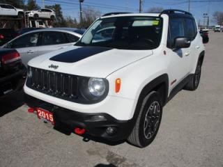 Used 2015 Jeep Renegade 4X4 READY TRAILHAWK EDITION 5 PASSENGER 2.4L - DOHC.. HEATED SEATS.. BACK-UP CAMERA.. BLUETOOTH.. HEATED STEERING WHEEL.. for sale in Bradford, ON