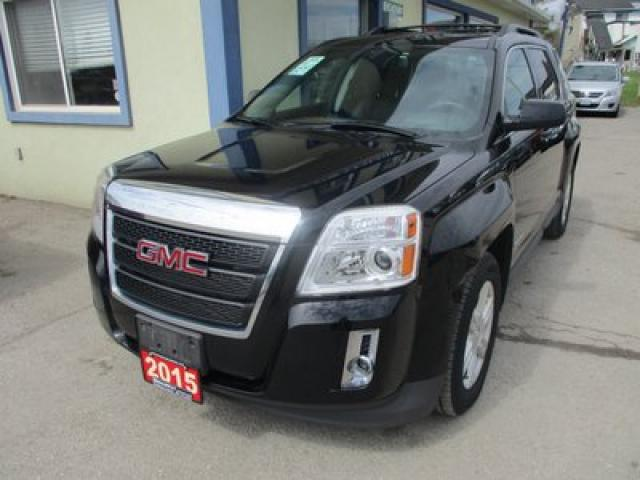 2015 GMC Terrain LOADED SLT EDITION 5 PASSENGER 2.4L - ECO-TEC.. ECON-BOOST.. LEATHER.. HEATED SEATS.. POWER SUNROOF.. BACK-UP CAMERA.. BLUETOOTH SYSTEM..