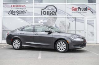 Used 2016 Chrysler 200 LX ***JAMAIS ACCIDENTE*** for sale in Québec, QC
