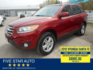 Used 2012 Hyundai Santa Fe GLS *Clean Carproof* Certified w/ 6 Month Warranty for sale in Brantford, ON