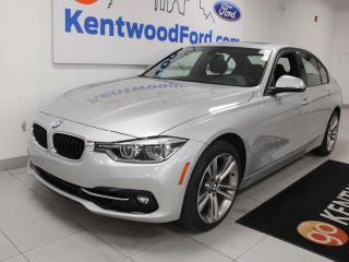 Used 2018 BMW 3 Series 330i xDrive, power heated seats, push start/stop, back up camera, NAV, sunroof for sale in Edmonton, AB
