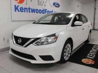 Used 2016 Nissan Sentra 18 FWD, all white shining so bright for sale in Edmonton, AB