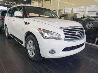 Used 2014 Infiniti QX80 HEATED/VENTED SEATS, NAVI, REAR VIEW CAMERA, REAR DVD for sale in Edmonton, AB
