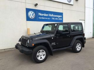 Used 2018 Jeep Wrangler JK SPORT 4WD - 6SPD MANUAL -PWR PKG for sale in Edmonton, AB