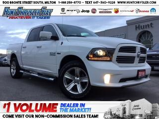 Used 2016 RAM 1500 SPORT | CREW | CAMERA | 4X4 | HTD STS & MORE!!! for sale in Milton, ON