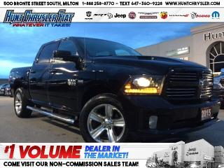 Used 2015 RAM 1500 SPORT | 4X4 | PUSH BTN | HTD STS | CAM | NAV & MOR for sale in Milton, ON