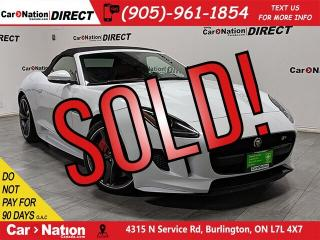 Used 2016 Jaguar F-Type R| AWD| RED LEATHER| NAVI| CONVERTIBLE| for sale in Burlington, ON