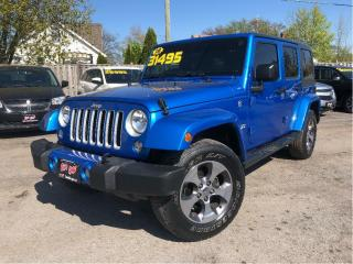 Used 2016 Jeep Wrangler Unlimited Sahara 4x4 Nice Local Trade! Navigation for sale in St Catharines, ON