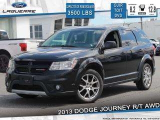 Used 2013 Dodge Journey R/T**AWD*7 PLACES*CUIR*TOIT*DVD*CAMERA** for sale in Victoriaville, QC