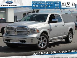 Used 2015 RAM 1500 LARAMIE 4X4 CUIR for sale in Victoriaville, QC