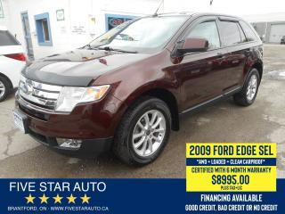 Used 2009 Ford Edge SEL *Clean Carproof* Certified w/ 6 Month Warranty for sale in Brantford, ON
