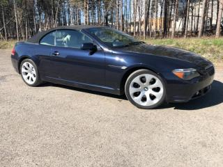 Used 2006 BMW 6 Series 650ci, Convertible for sale in Mirabel, QC