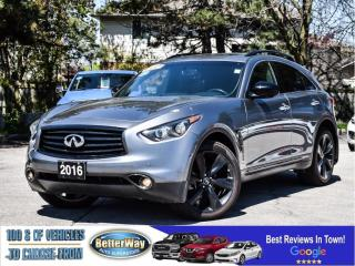 Used 2016 Infiniti QX70 Navi| AWD| Leather| Sunroof| Loaded for sale in Stoney Creek, ON
