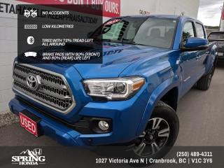Used 2017 Toyota Tacoma TRD Sport NO ACCIDENTS, SMOKE-FREE, PET-FREE, LOW KM's, FACTORY WARRANTY - $265 BI-WEEKLY - $0 DOWN for sale in Cranbrook, BC