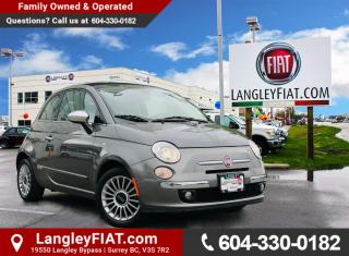 Used 2013 Fiat 500 C Lounge Convertible! Low KM's, B.C Owned! for sale in Surrey, BC