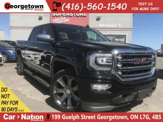 Used 2016 GMC Sierra 1500 SLT Z71 B/U CAM| LEATHER| DVD| CREW| 4X4| BIG RIMS for sale in Georgetown, ON