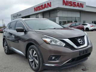Used 2016 Nissan Murano Platinum AWD w/all leather,NAV,panoramic roof,heated front & rear seats,vented front seats,power memory driver seat,rear cam for sale in Cambridge, ON