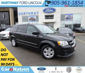 Used 2013 Dodge Grand Caravan Crew | NAV | LEATHER | DVD | STOW-N-GO | PWR DOORS for sale in Brantford, ON