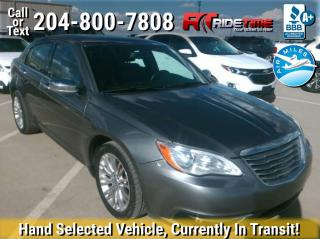 Used 2012 Chrysler 200 Limited for sale in Winnipeg, MB