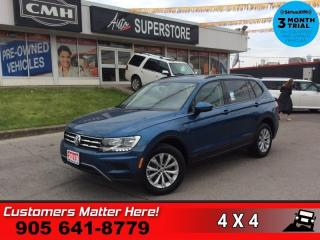 Used 2019 Volkswagen Tiguan Trendline 4MOTION  AWD CONVENIENCE-PKG HS for sale in St. Catharines, ON