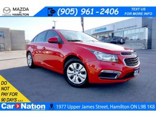 Used 2016 Chevrolet Cruze Limited LT 1LT | REAR CAM | SAT RADIO | 6 SPEED for sale in Hamilton, ON