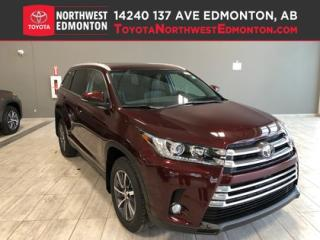 New 2019 Toyota Highlander XLE AWD for sale in Edmonton, AB